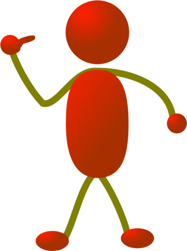 collection of pointing. Clipart person color