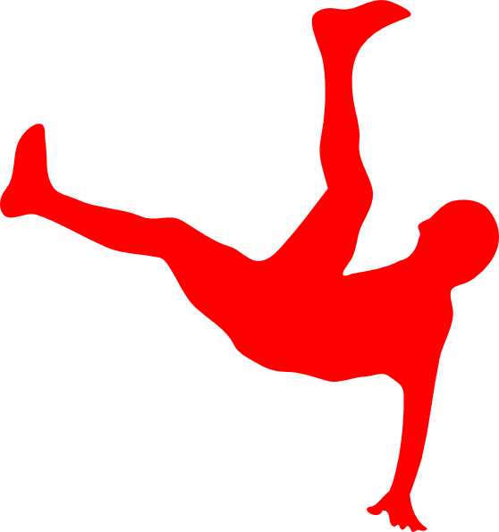 Red Man Falling Clip Art at Clker