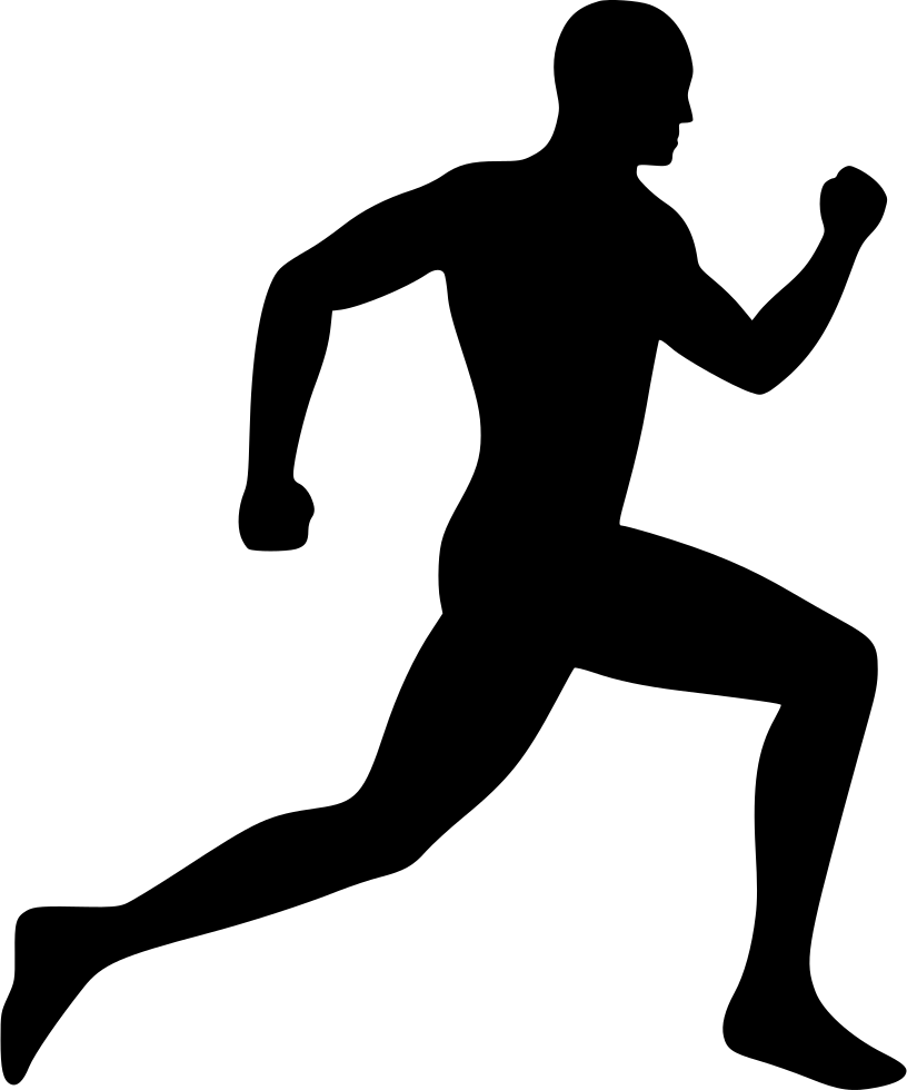 Silhouette clip art free. Movement clipart running man