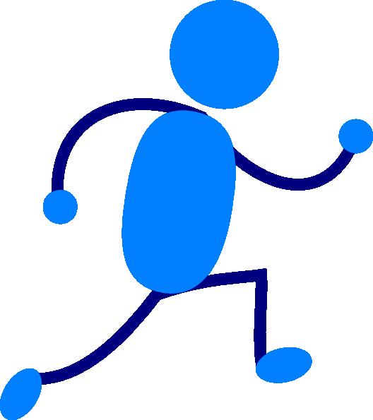 Runner clipart transparent background. Blue man running clip