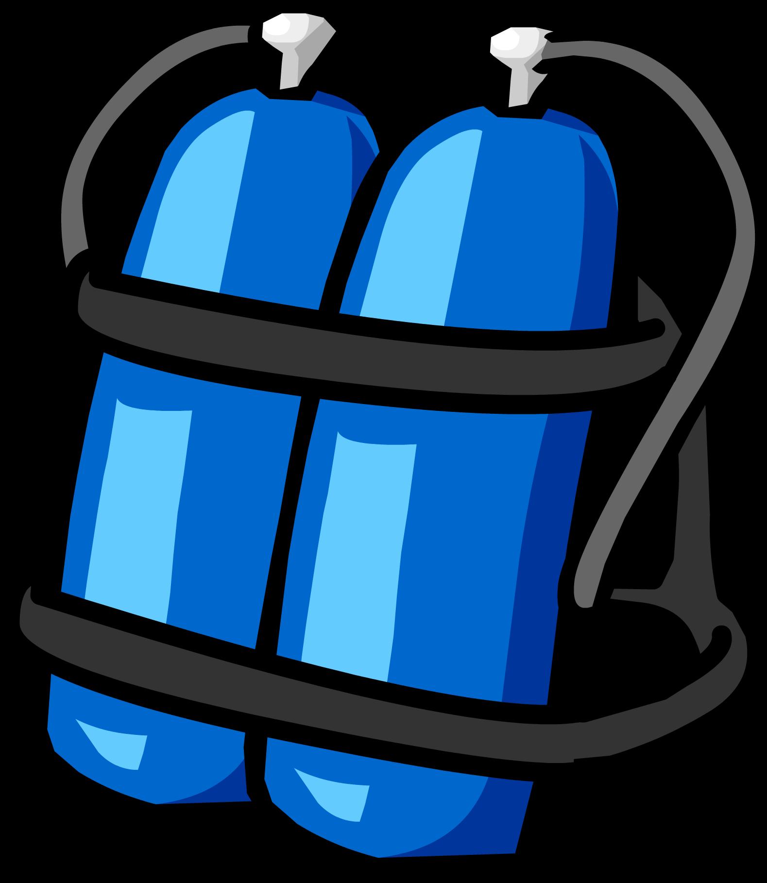 Gear clipart scuba diving. Blue tank club penguin