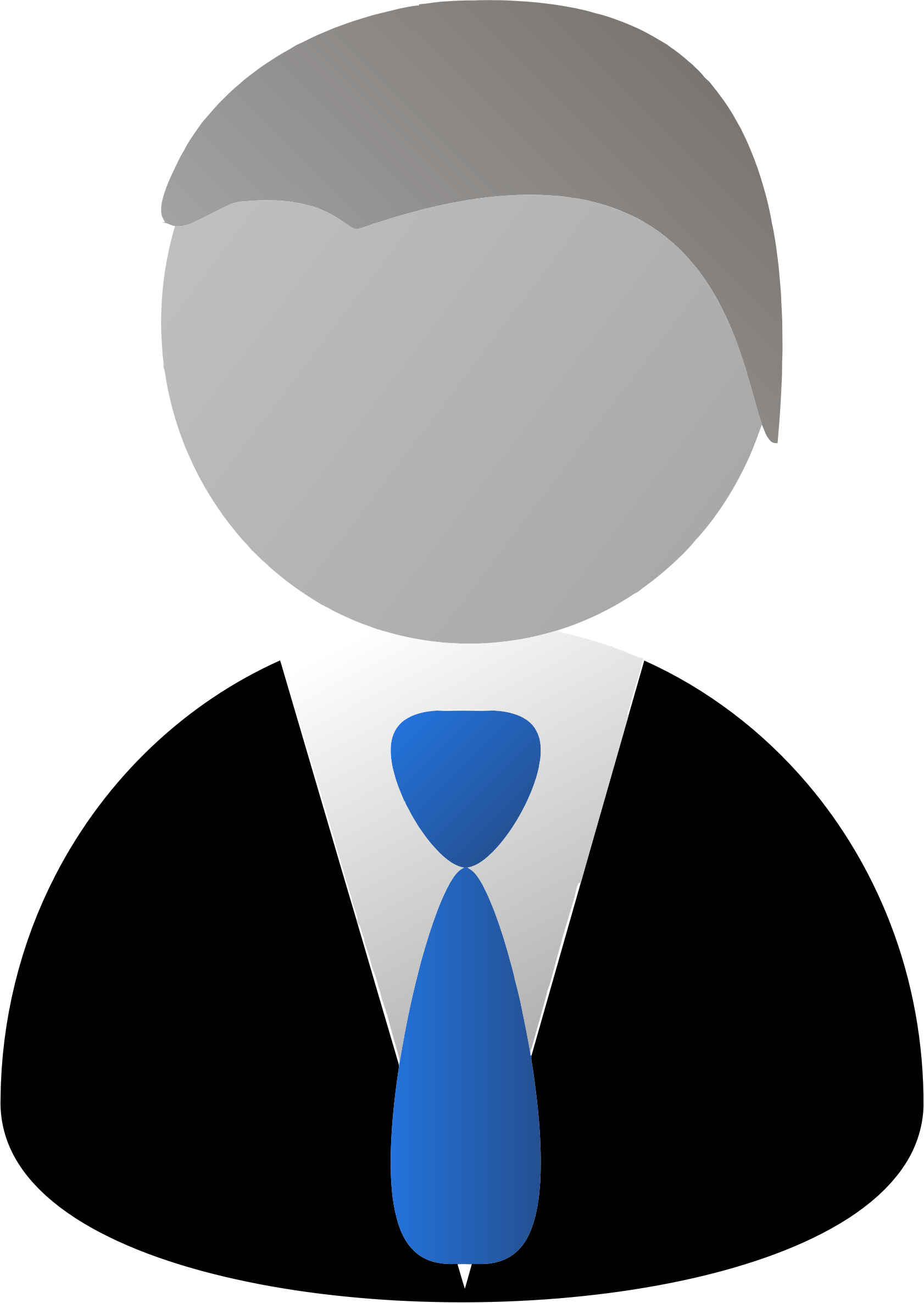 Faceless man in suit. Professional clipart individual professional