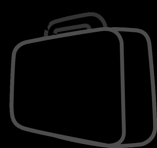 Black clip art at. Clipart man suitcase