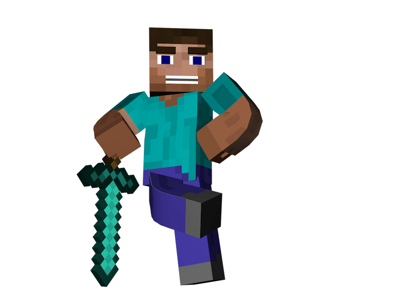 Young clipart man standing. Sword minecraft transparent png