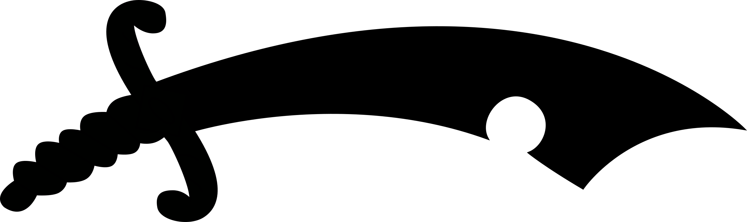 Clipart sword silhouette. Saxon seaxe big image