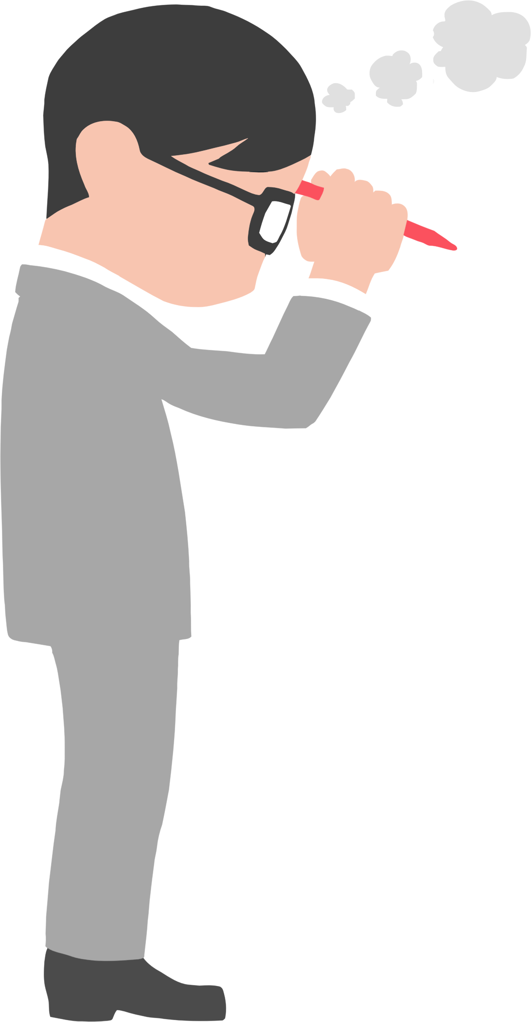Clipart man thinking. In suit big image