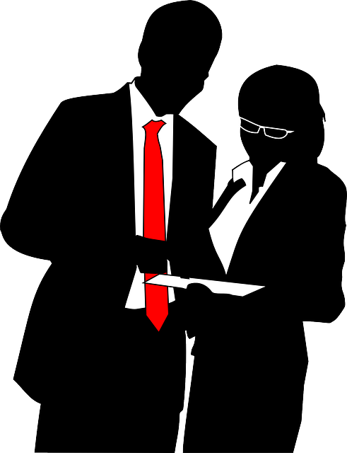 Manager clipart business worker. Suit and tie silhouette