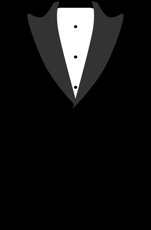 Silhouette clip art at. Onesie clipart tuxedo