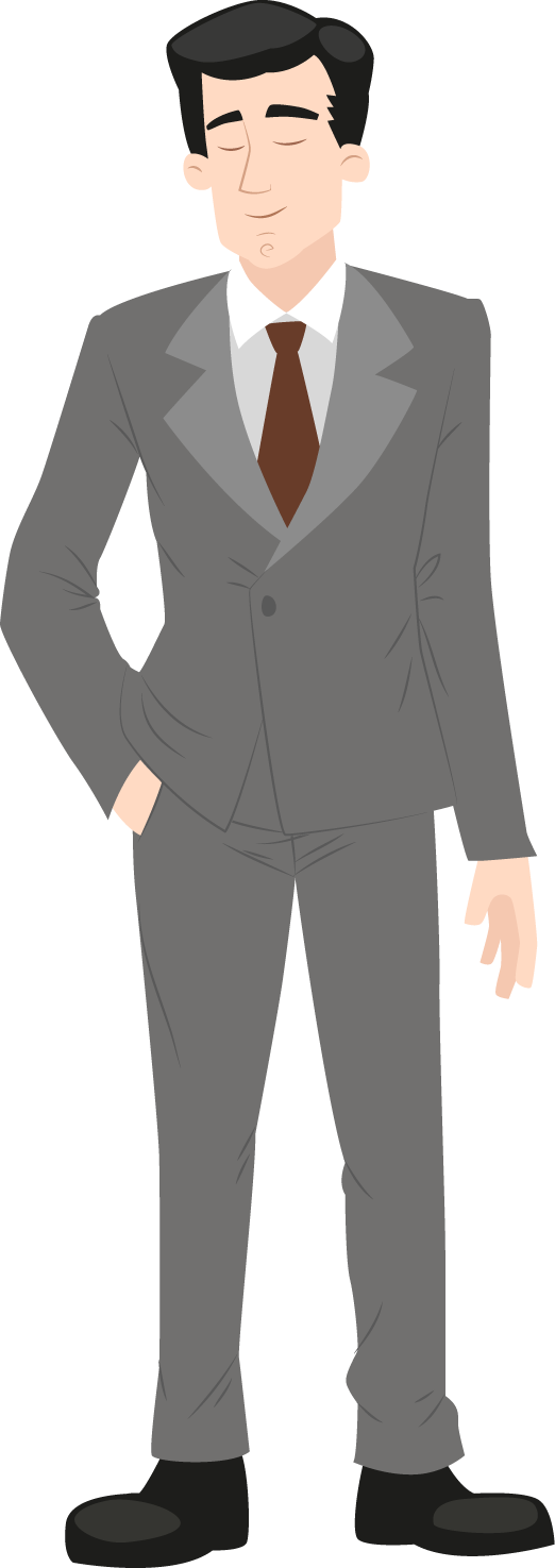 Black Guy Clipart - Cartoon Man In Suit | Transparent PNG Download #1231065  - Vippng