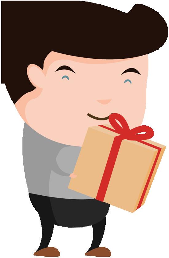 Portfolio designshop page happy. Excited clipart gift