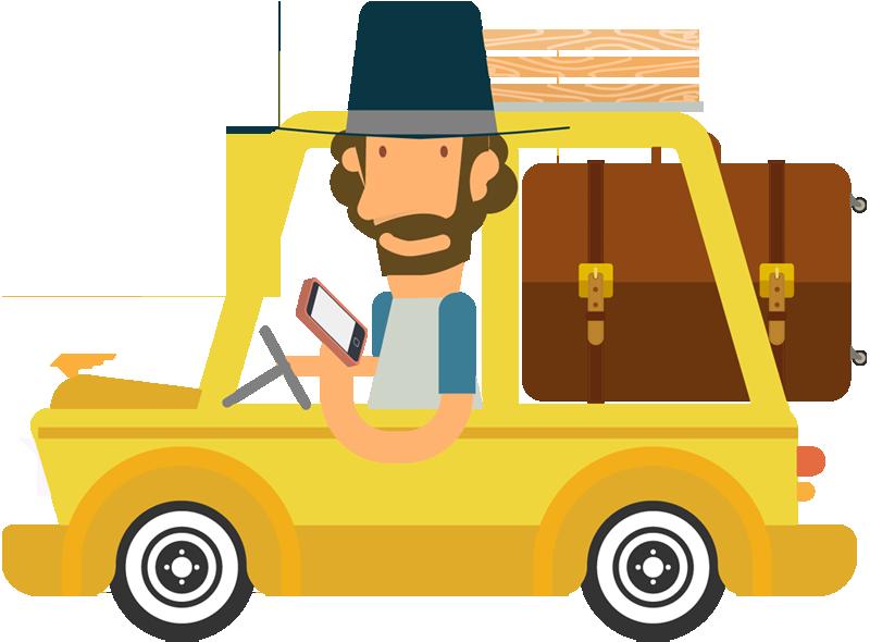 Portfolio categories designshop cartoon. Man clipart travel