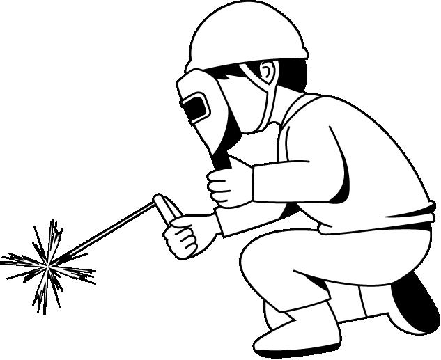 Man clipart welder