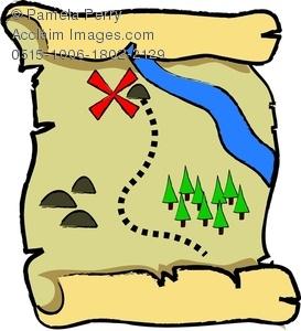 Clipart map. Cartoon