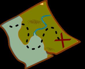 Clipart map. Treasure clip art at