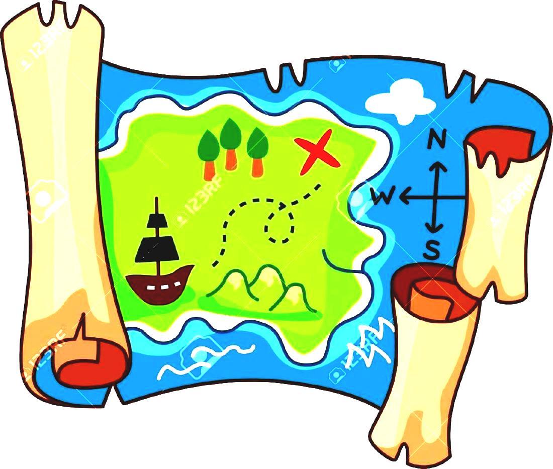 Compass clipart treasure hunt. Map free clip art