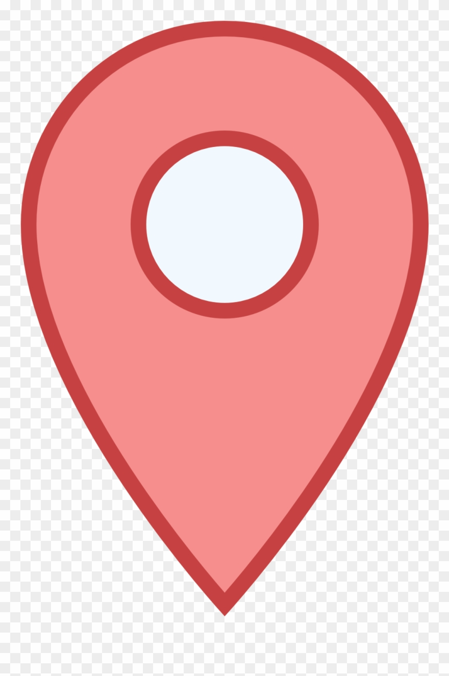 Clipart map address. Pointer google icon blue