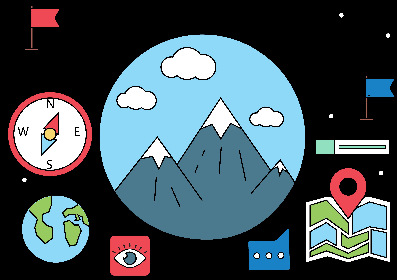 Clipart mountains mountaineering. Cartoon clip art mountain