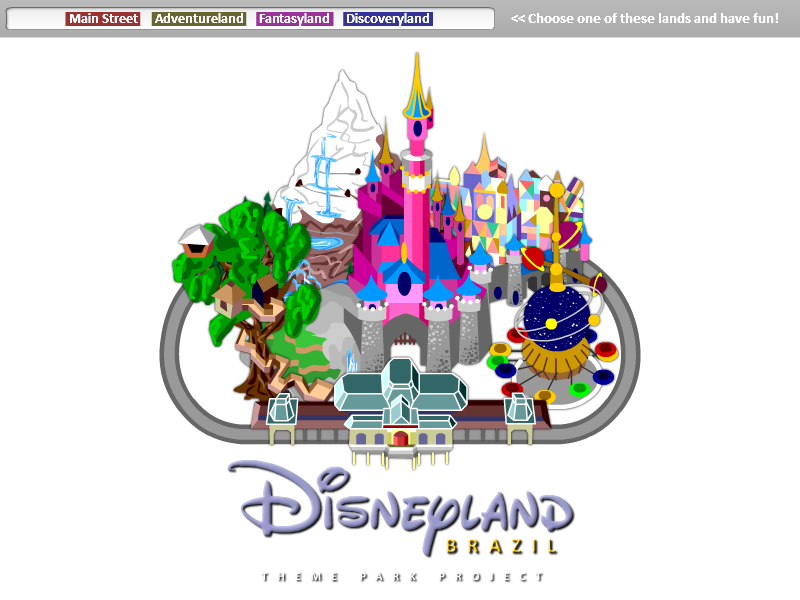 Disneyland clipart vector. Interactive map updated by