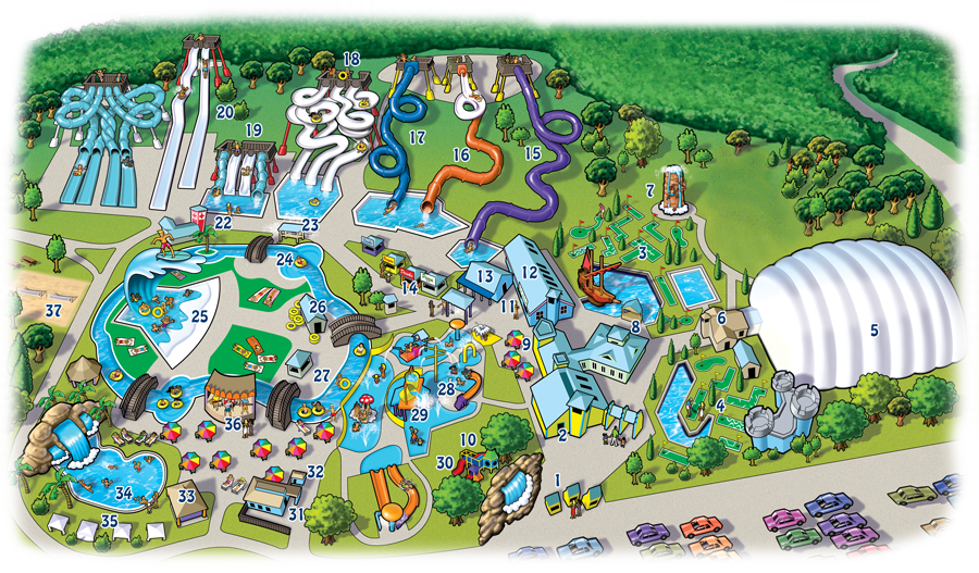 Clipart map amusement park. Wild water kingdom lnn