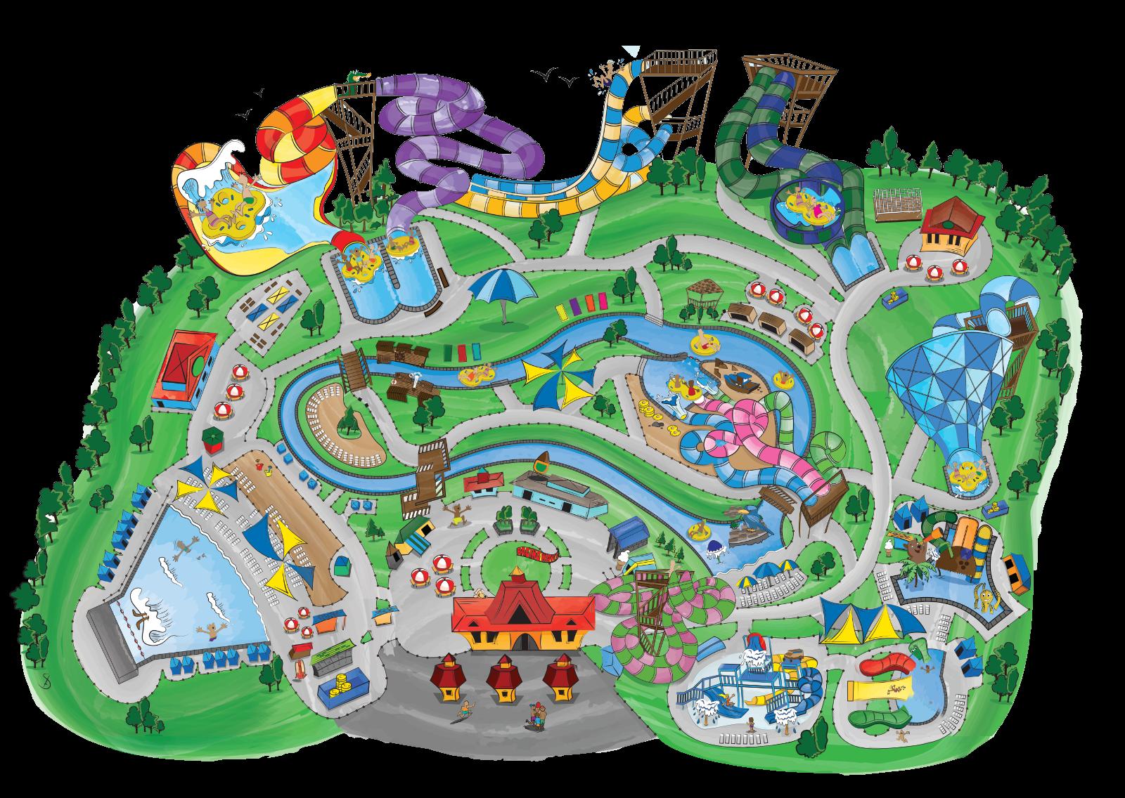 Clipart park big park. Amusement map free on