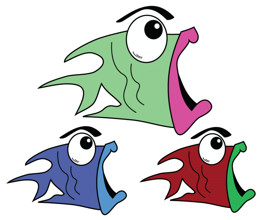 Fish clipart tired. Skink animated free on