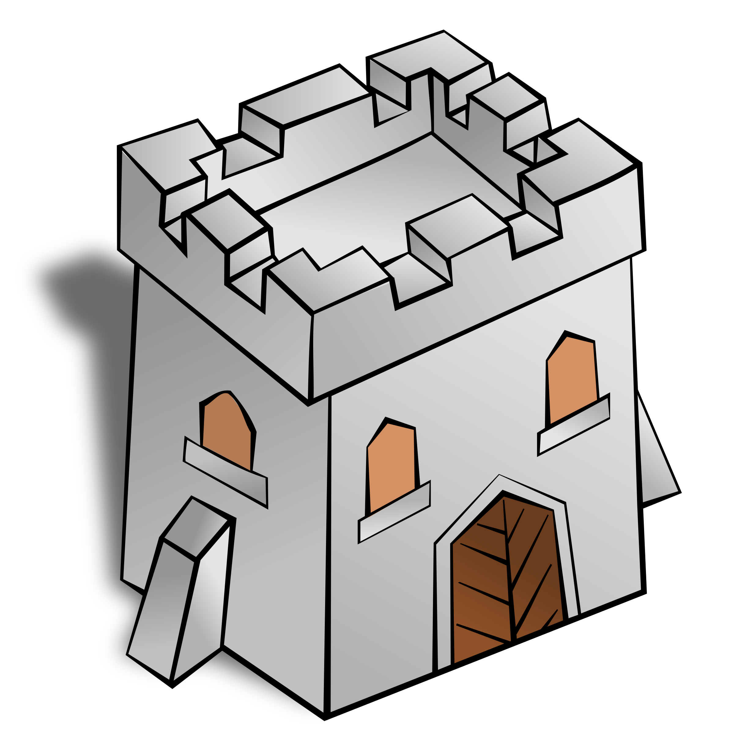 Rpg map symbols tower. Square clipart animated