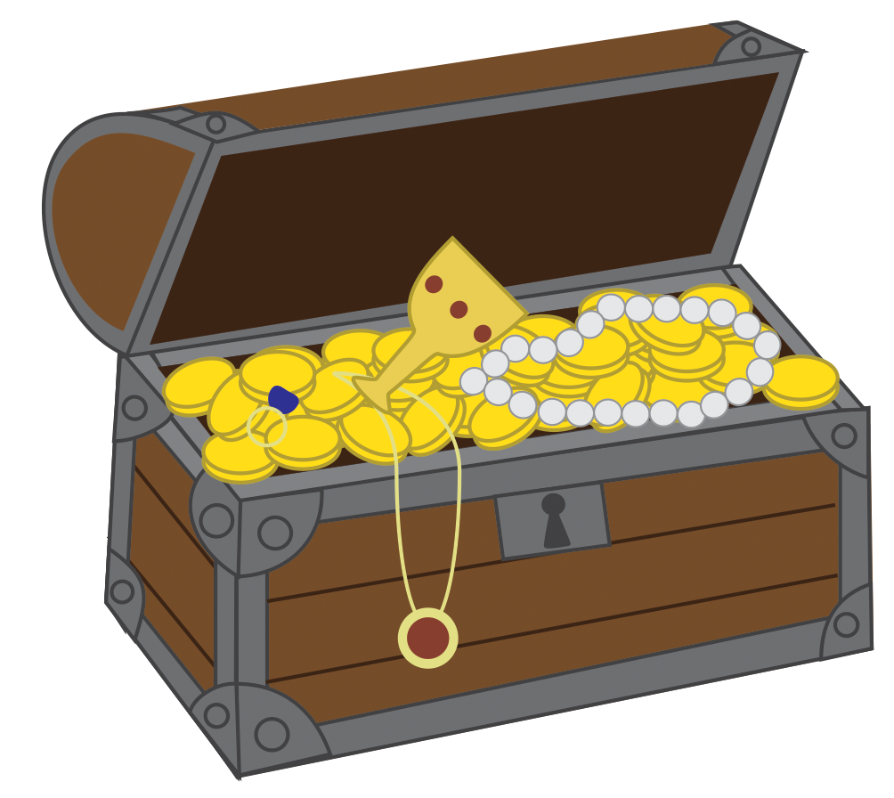 Treasure clipart treasure trove. Chest booty pinterest