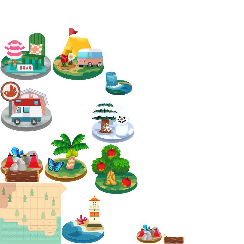 Clipart map camp map. Mobile animal crossing pocket