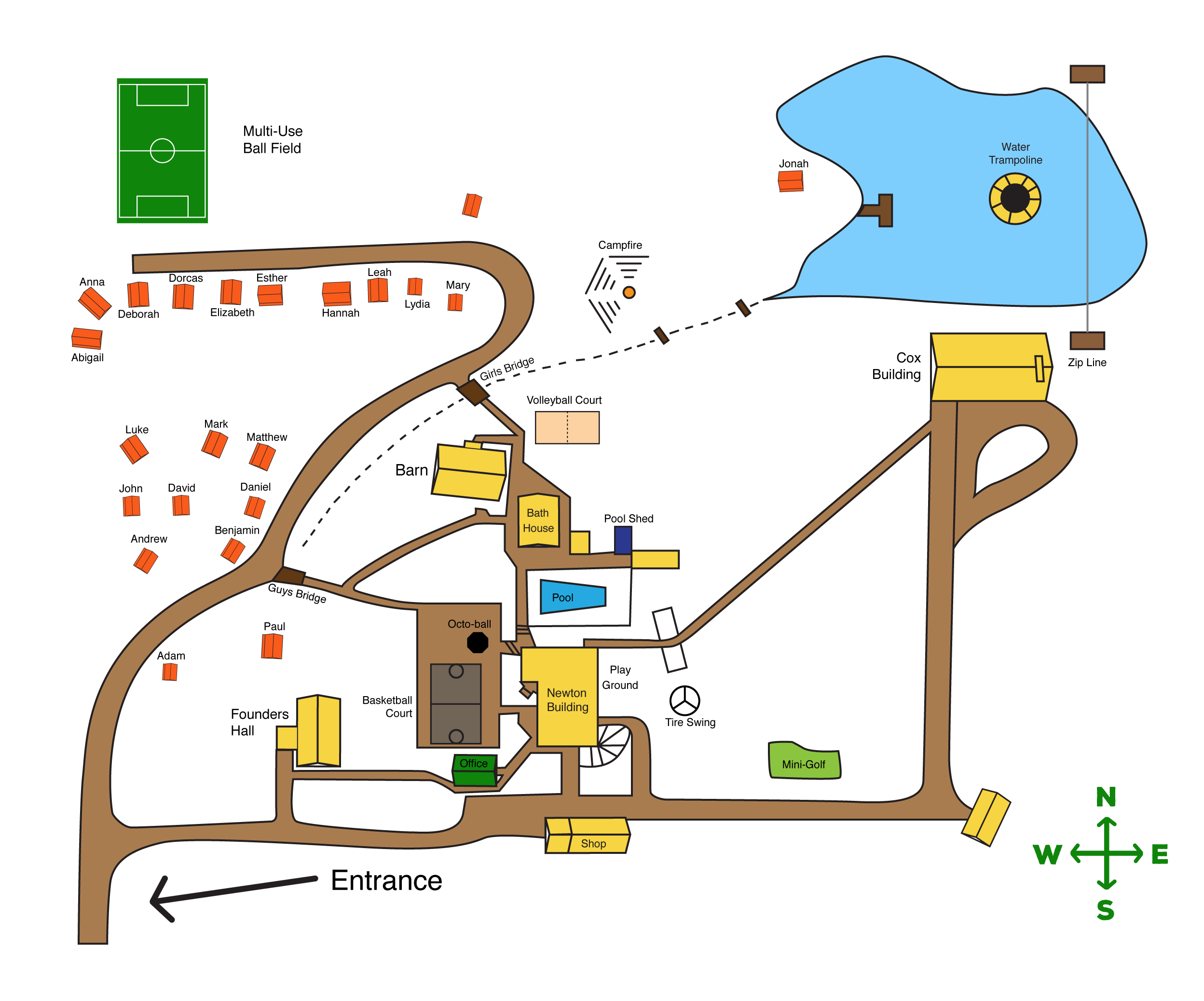Our facilities and campus. Clipart map camp map
