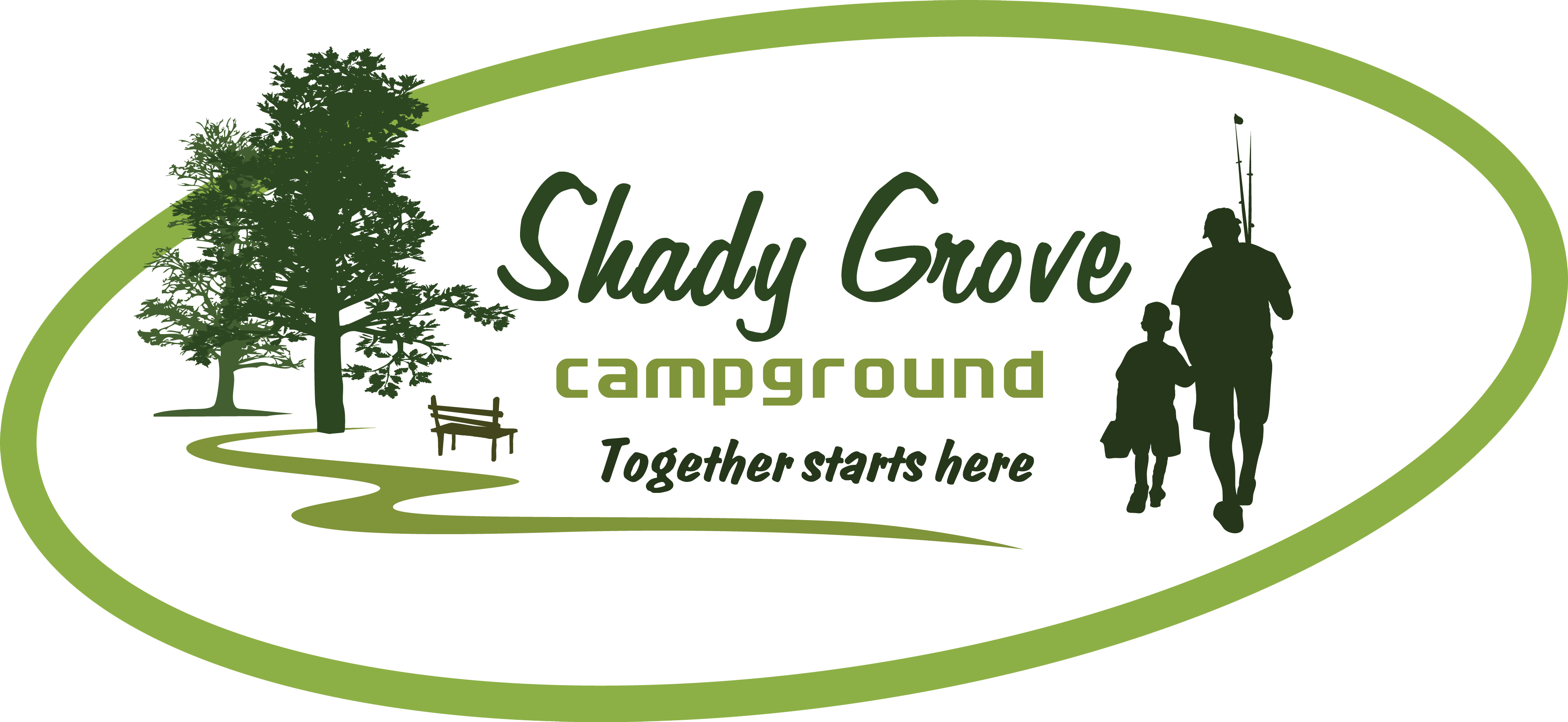 Home shady grove campground. Clipart tent family camp