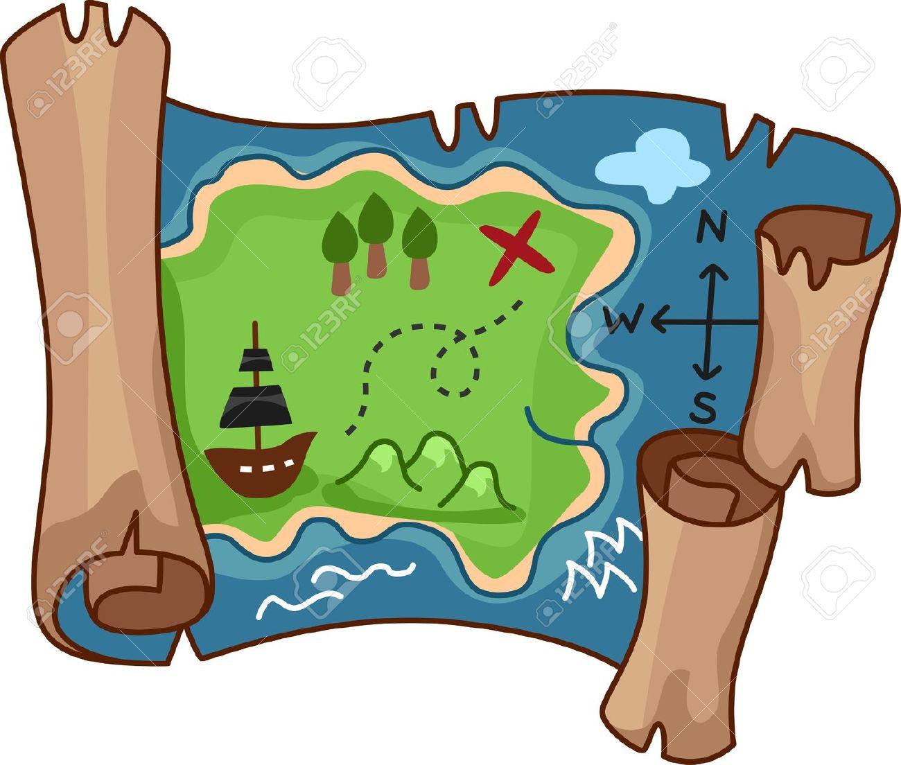 Clipart map clip art.  treasure clipartlook