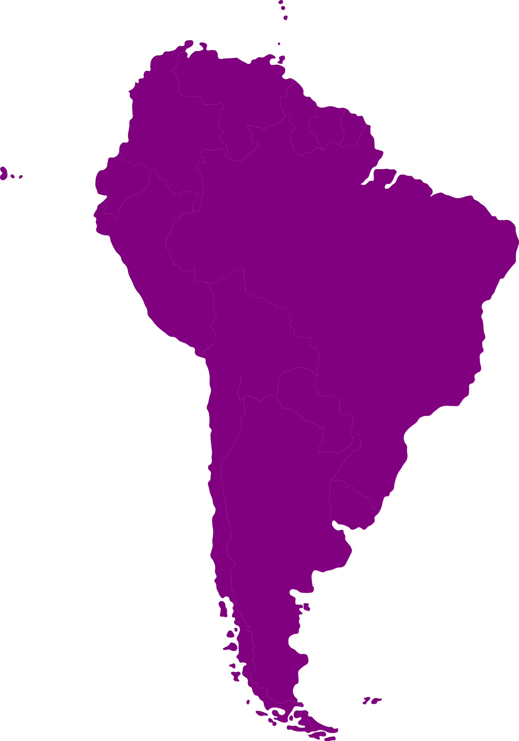 South american by iyo. Clipart map continent