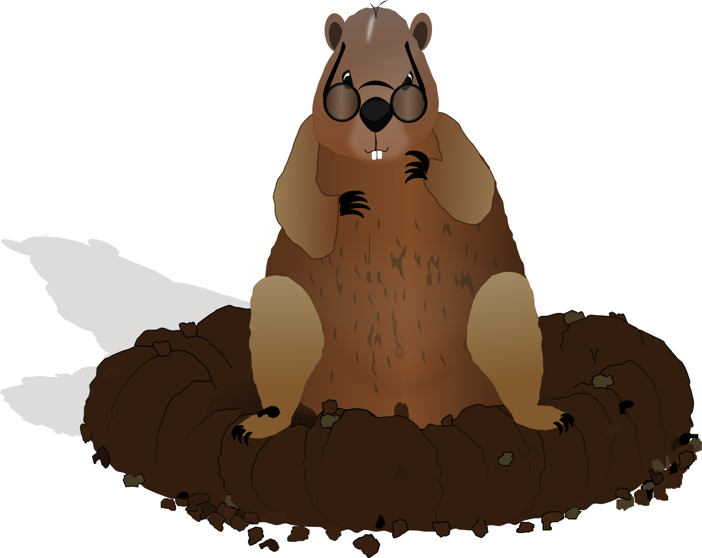 Free images download clip. Groundhog clipart drawn