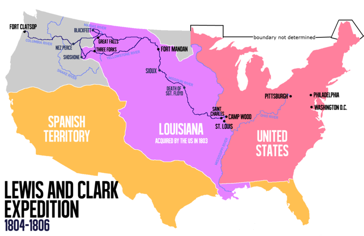 Meriwether lewis wikiwand route. Pioneer clipart manifest destiny
