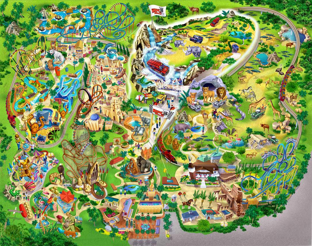 Garden clipart map. Busch gardens clip art