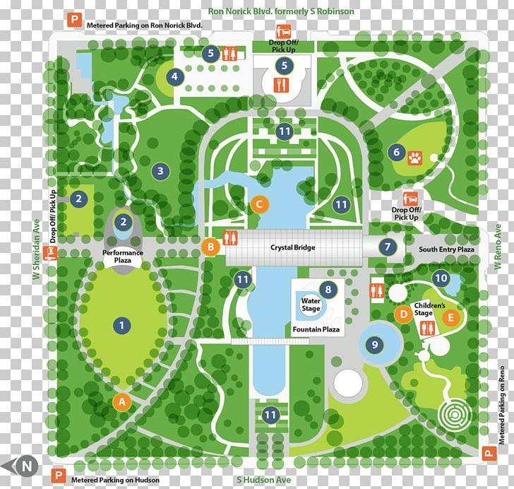 Garden clipart map. Myriad botanical gardens cox