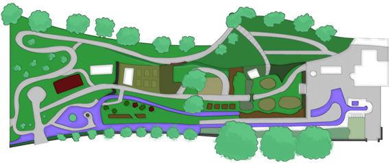 Cascades house gardens . Garden clipart map