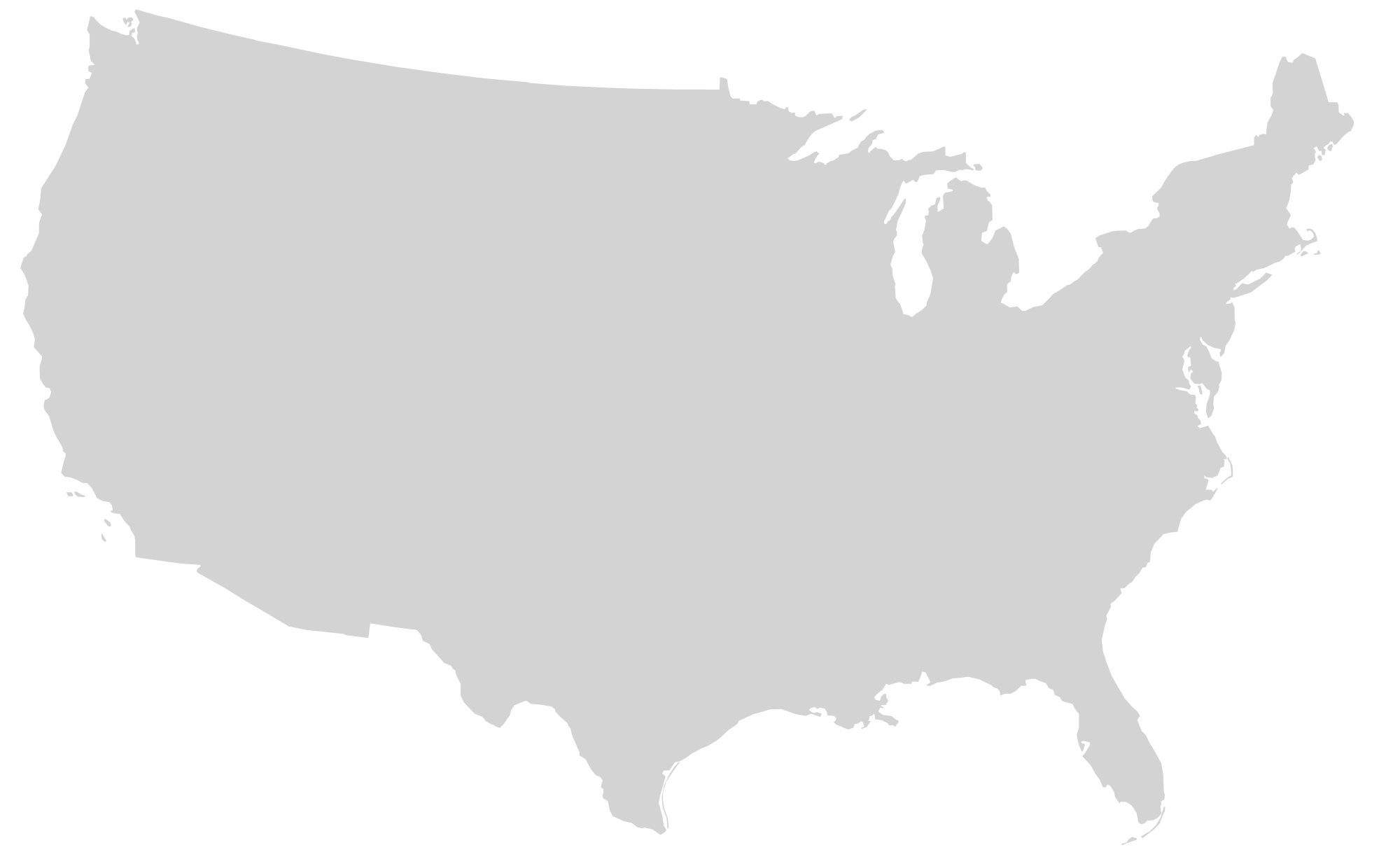 File blank us mainland. Clipart map generic