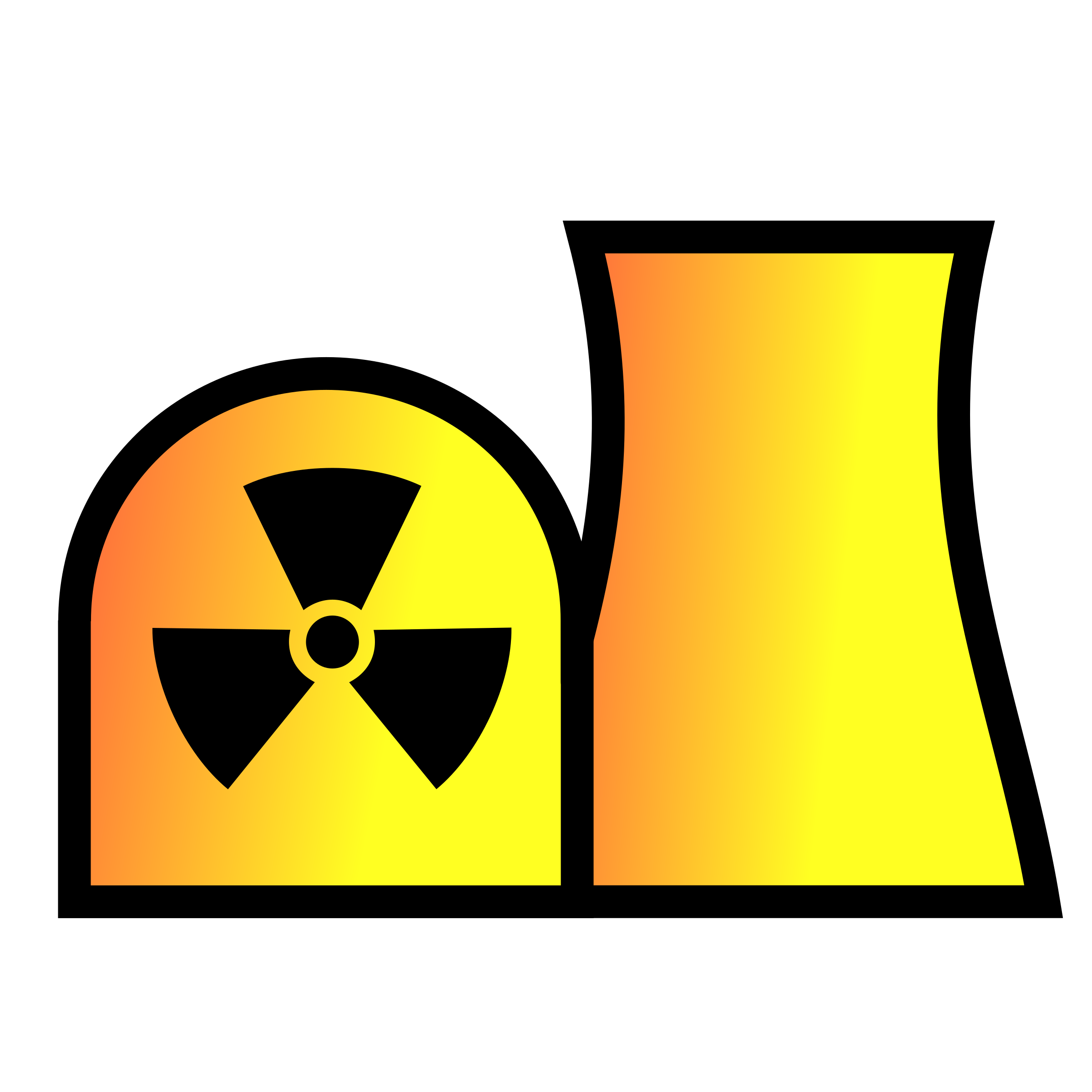 Nuclear power plant map. Maps clipart sign