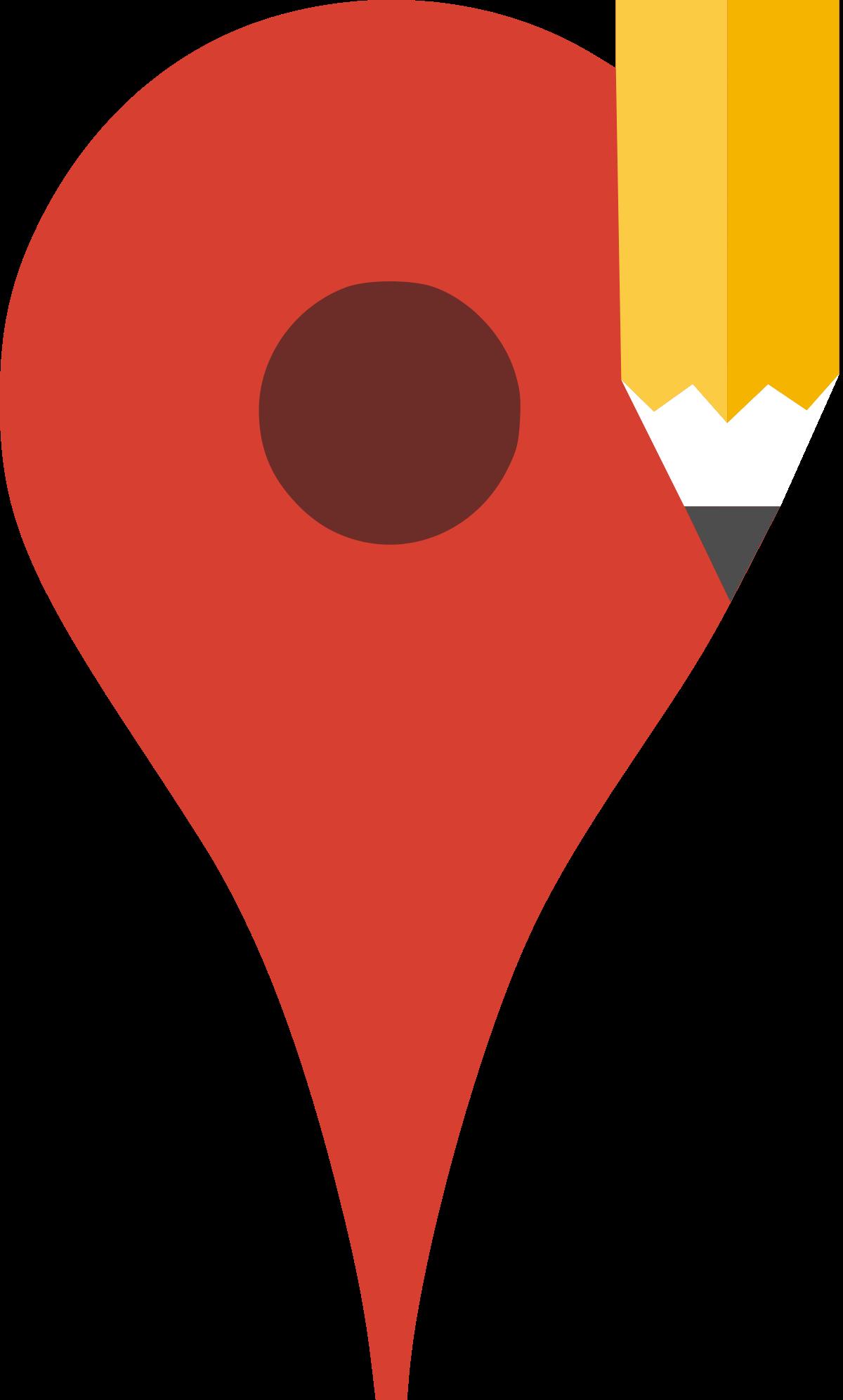 Maker maps logo. Google map marker png