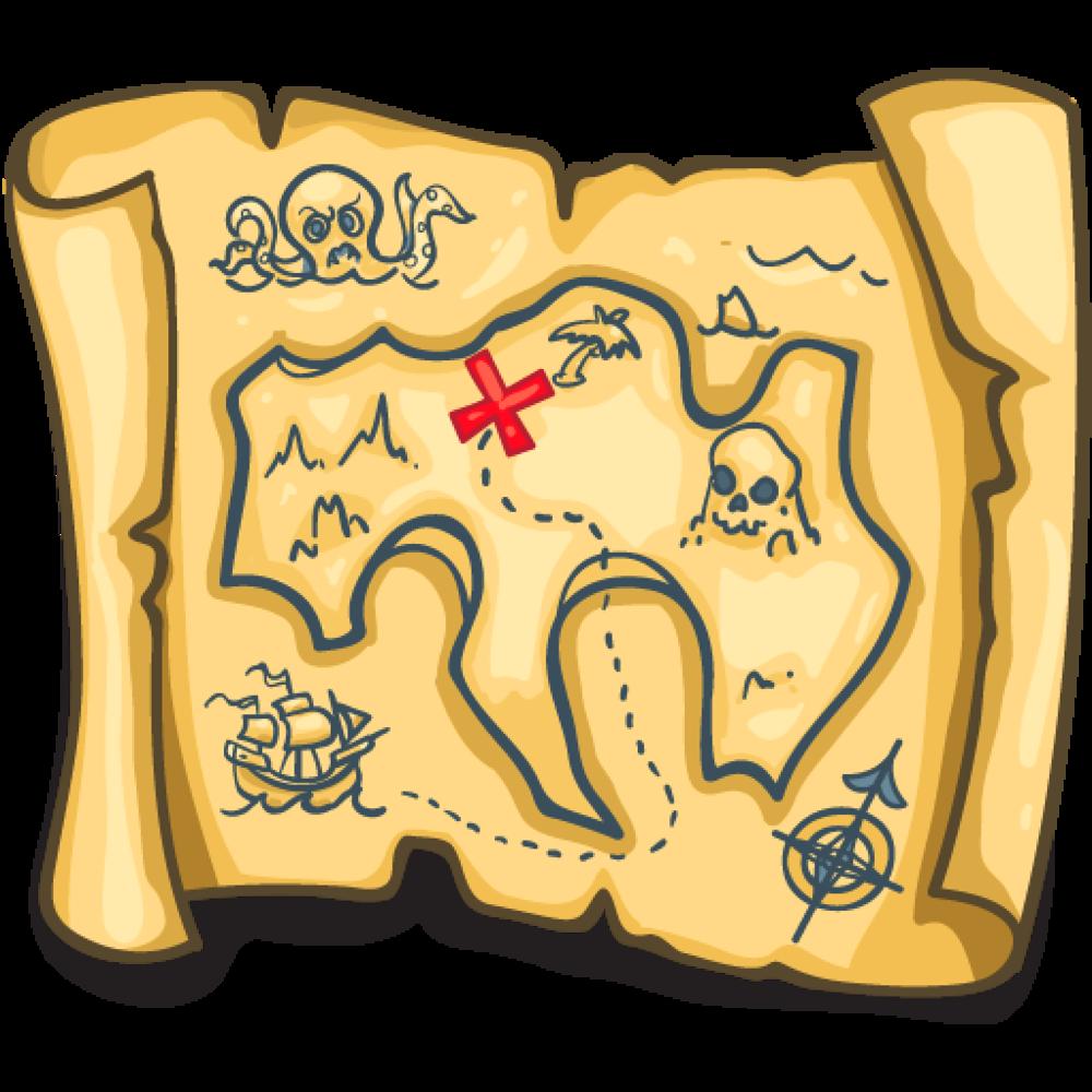 Treasure clipart pirate island. Writeathome mappng