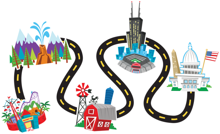 collection of simple. Pathway clipart roadmap