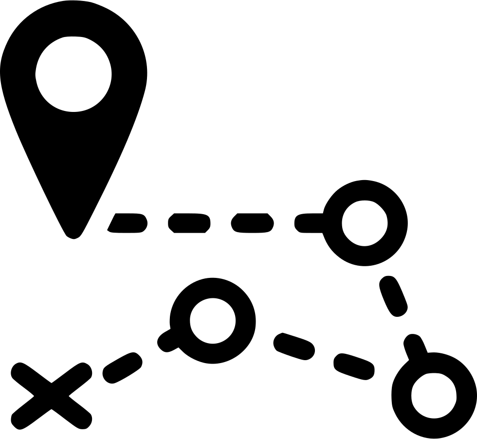 Markers clipart black and white. Road pin route gps