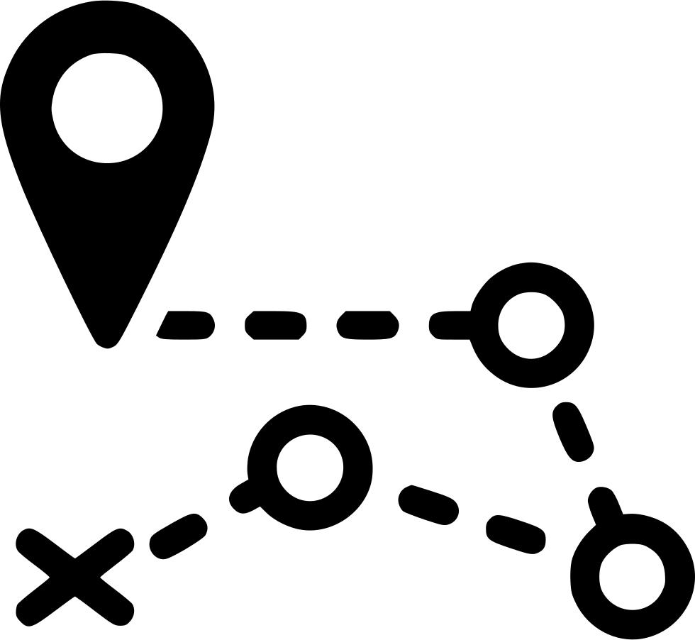 Pin clipart gps icon. Road route destination distance
