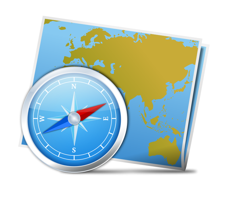 collection of world. Compass clipart scout map
