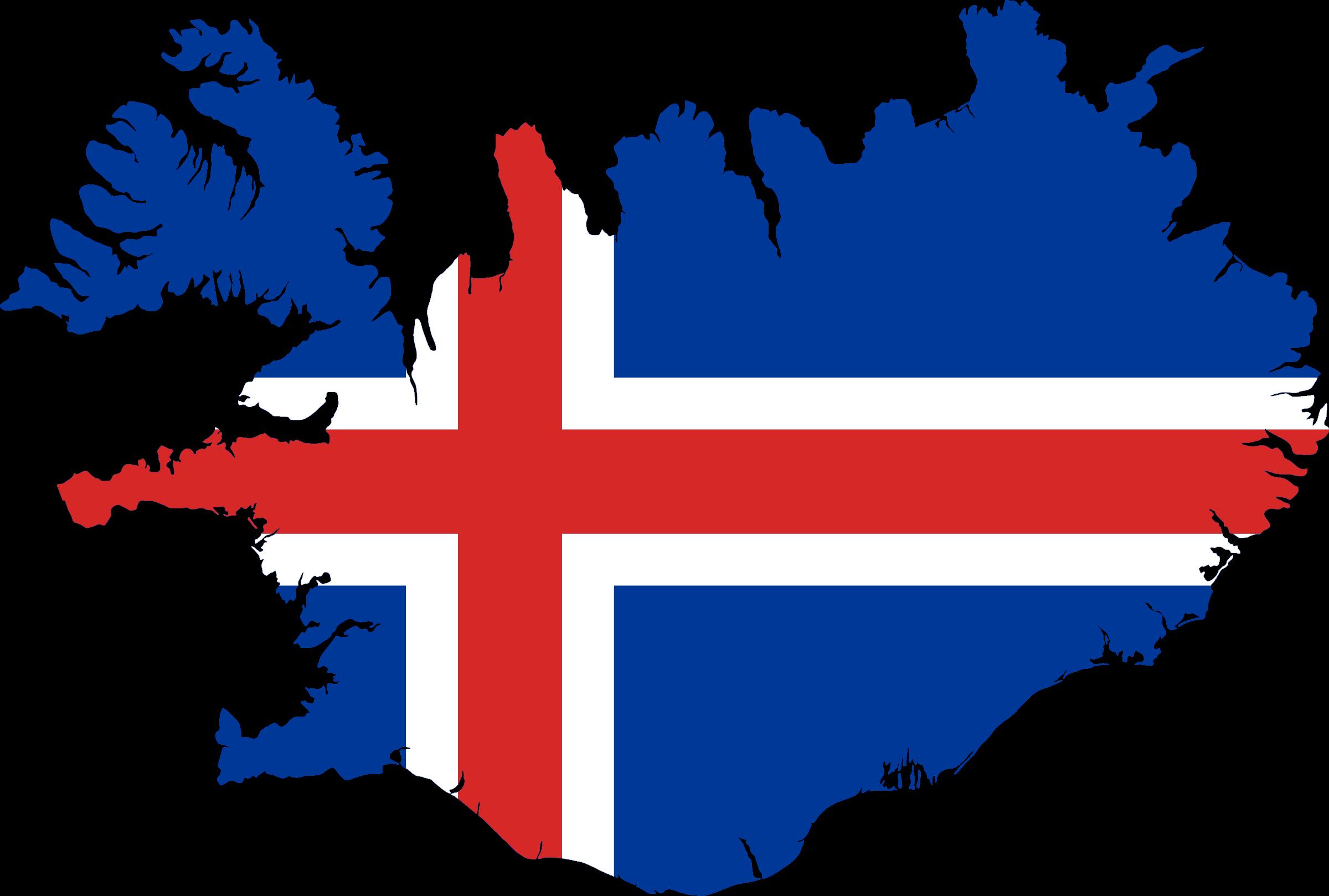 Iceland flag map. Earthquake clipart volcanic eruption