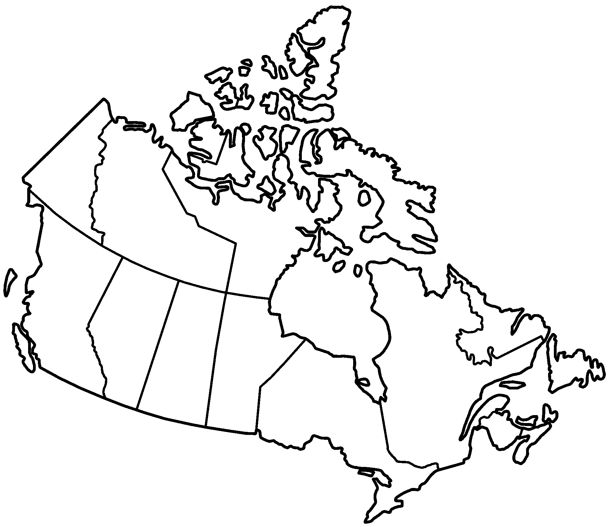 Unmarked Map Of Canada Map clipart printable, Map printable Transparent FREE for download