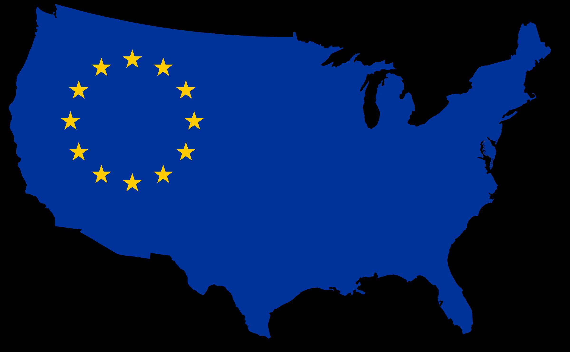 Us flag map big. Europe clipart transparent