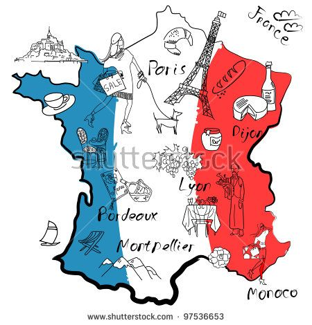France clipart line. Map world thinking day
