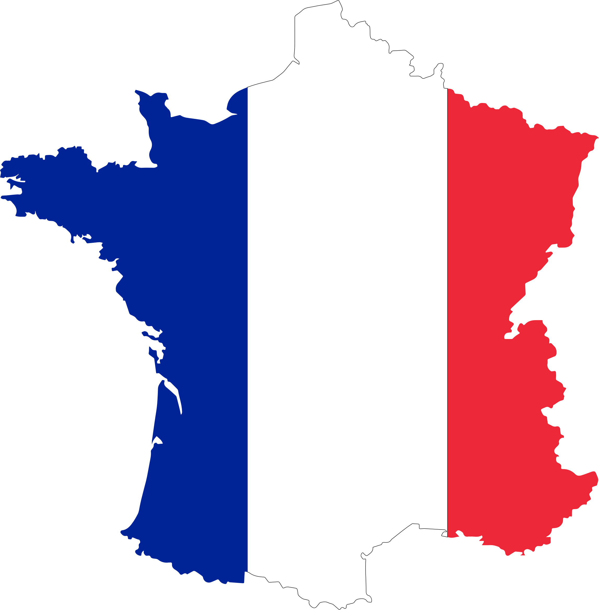 Flag map big image. France clipart cheese french